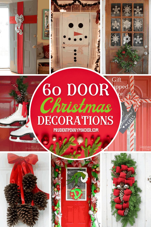 20 DIY Christmas Door Decorations   Prudent Penny Pincher