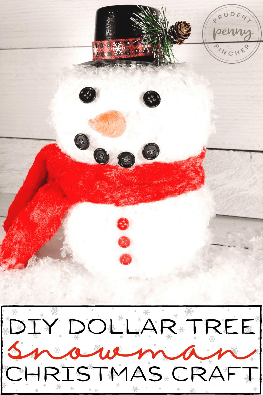 dollar tree snowman christmas craft