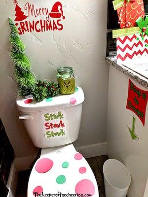 grinch bathroom decor