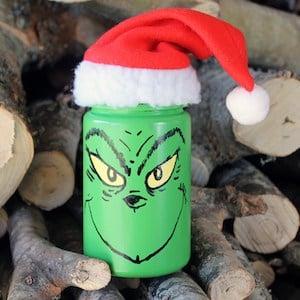 grinch mason jar Christmas Decoration