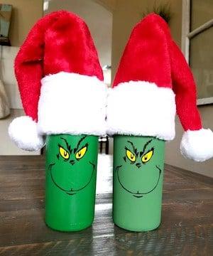 grinch wine bottle centerpiece Christmas Decoration