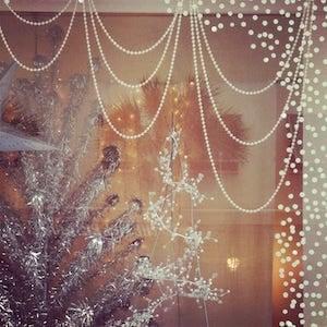 beaded garland christmas window decorations