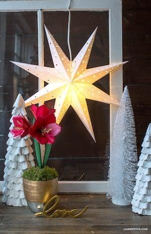 DIY Paper Star Window