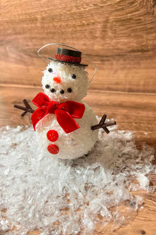 foam ball snowman ornament