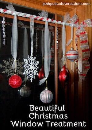 Beautiful Christmas Window Treatment