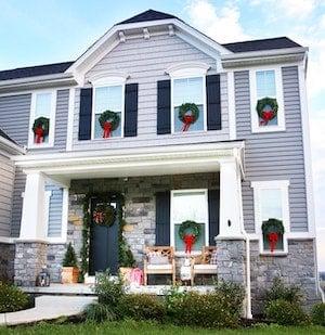 christmas wreath window decorations