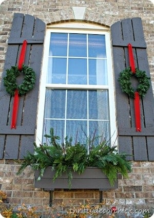 ecorating Window Shutters for Christmas