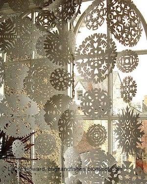 snowflake window curtain
