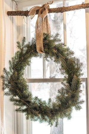 Natural Christmas Window Wreath