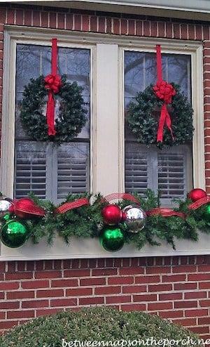 Window Bow Christmas Decorations