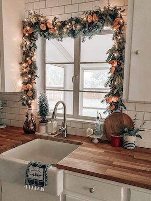 Dried Orange Garland Christmas Window Decoration