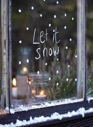 Let it Snow written window